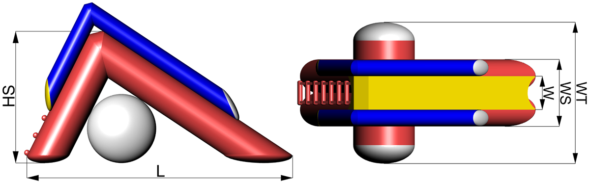 Размеры надувной водной горки Tisa