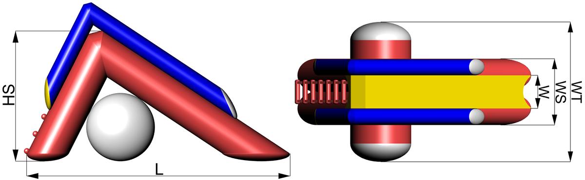 Dimensions of Inflatable water slide Tisa