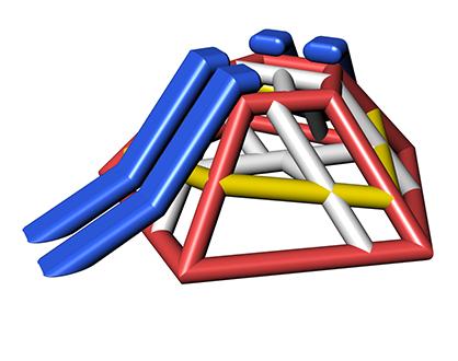 Inflatable water playtower BESKYD TETRA
