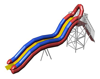 DONAU Inflatable water slide
