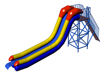 NIAGARA Inflatable water slide