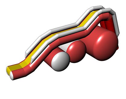 Inflatable water slide VISLA
