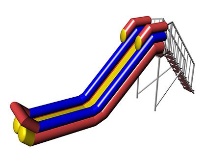 CHEREMOSH Inflatable water slide