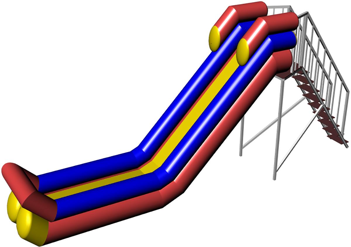 Inflatable water slide Cheremosh