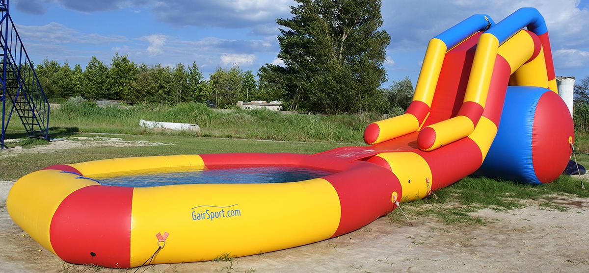 Надувная водная горка DESNA-4 с бассейном в Скадовске