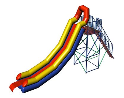 INGUL Inflatable water slide