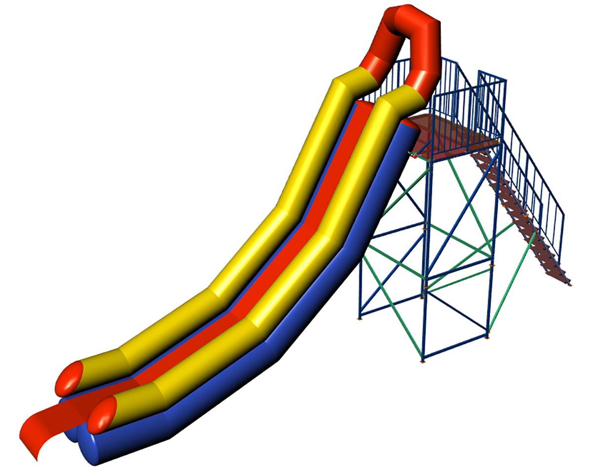 Inflatable water slide INGUL