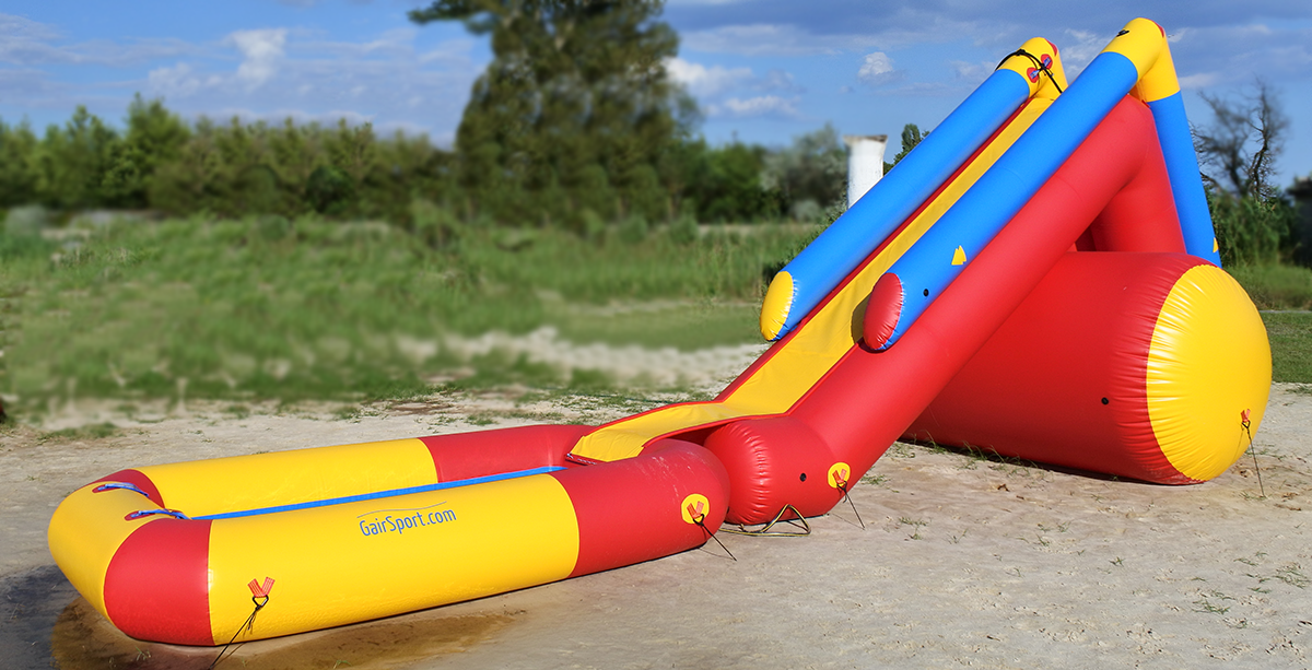 Inflatable water slide TISA-3 with pool #3