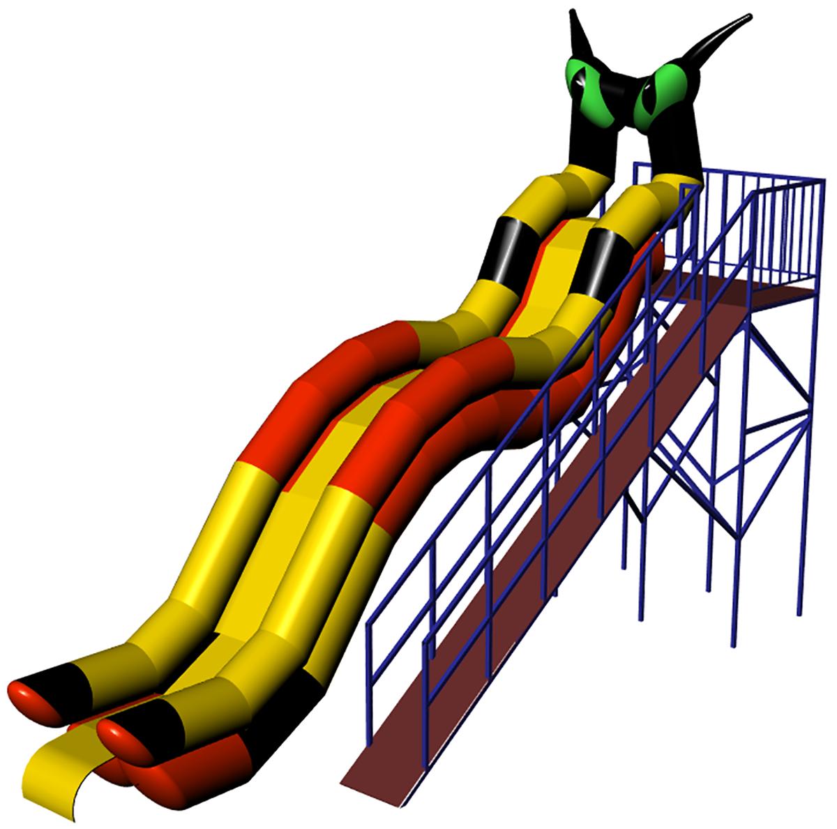 Inflatable water slide KOT-4