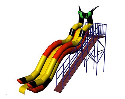KOT Inflatable water slide