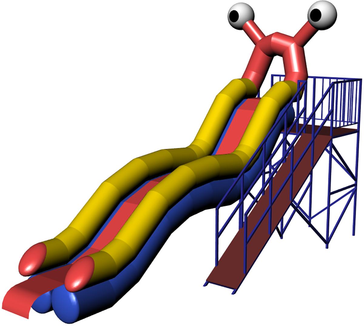 Inflatable water slide OCHI