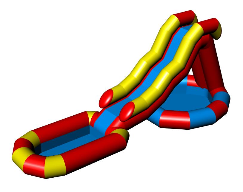 KRYVULKA Inflatable water slide