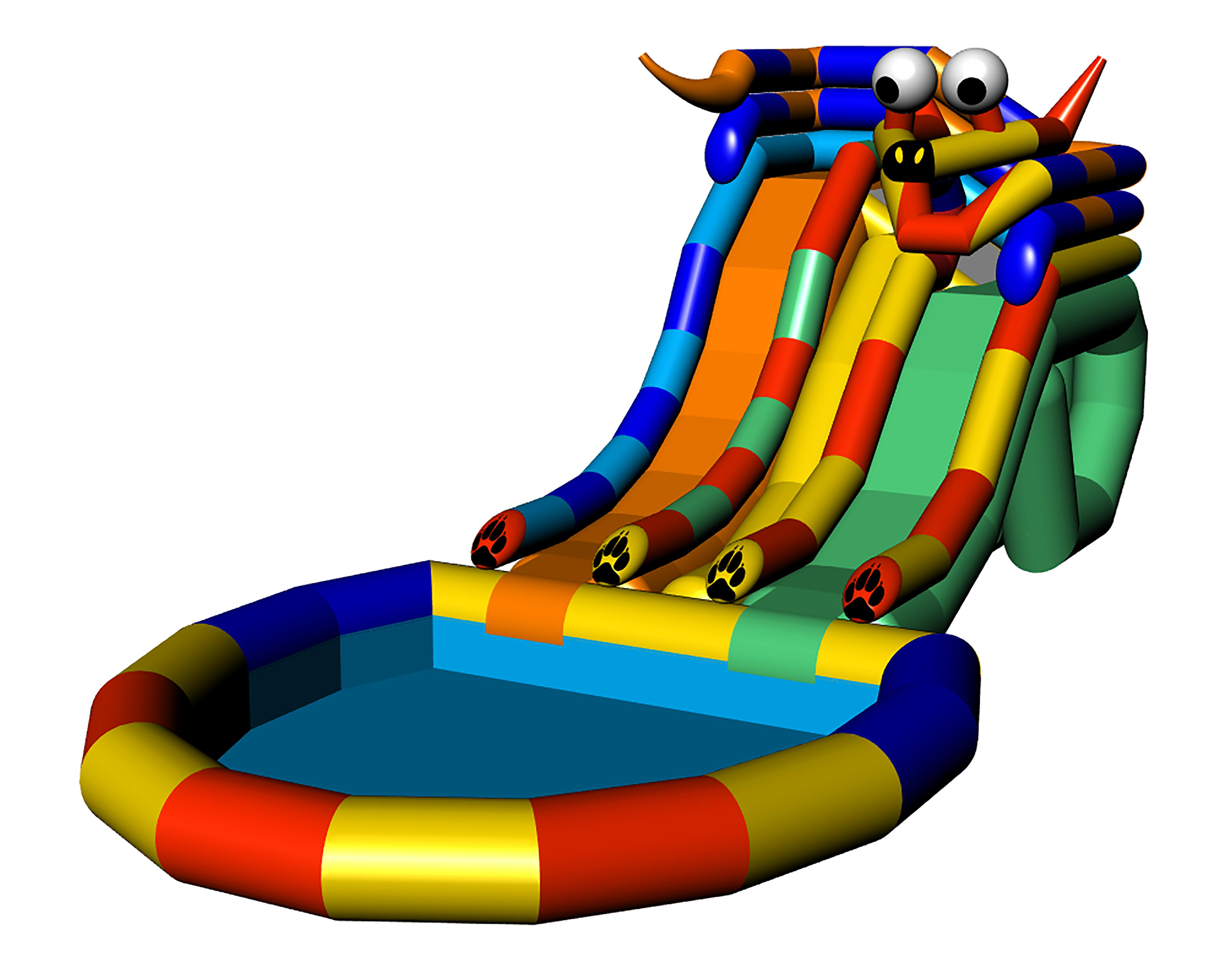 Аквапарк DOGGY 2 FLEX с разными спусками