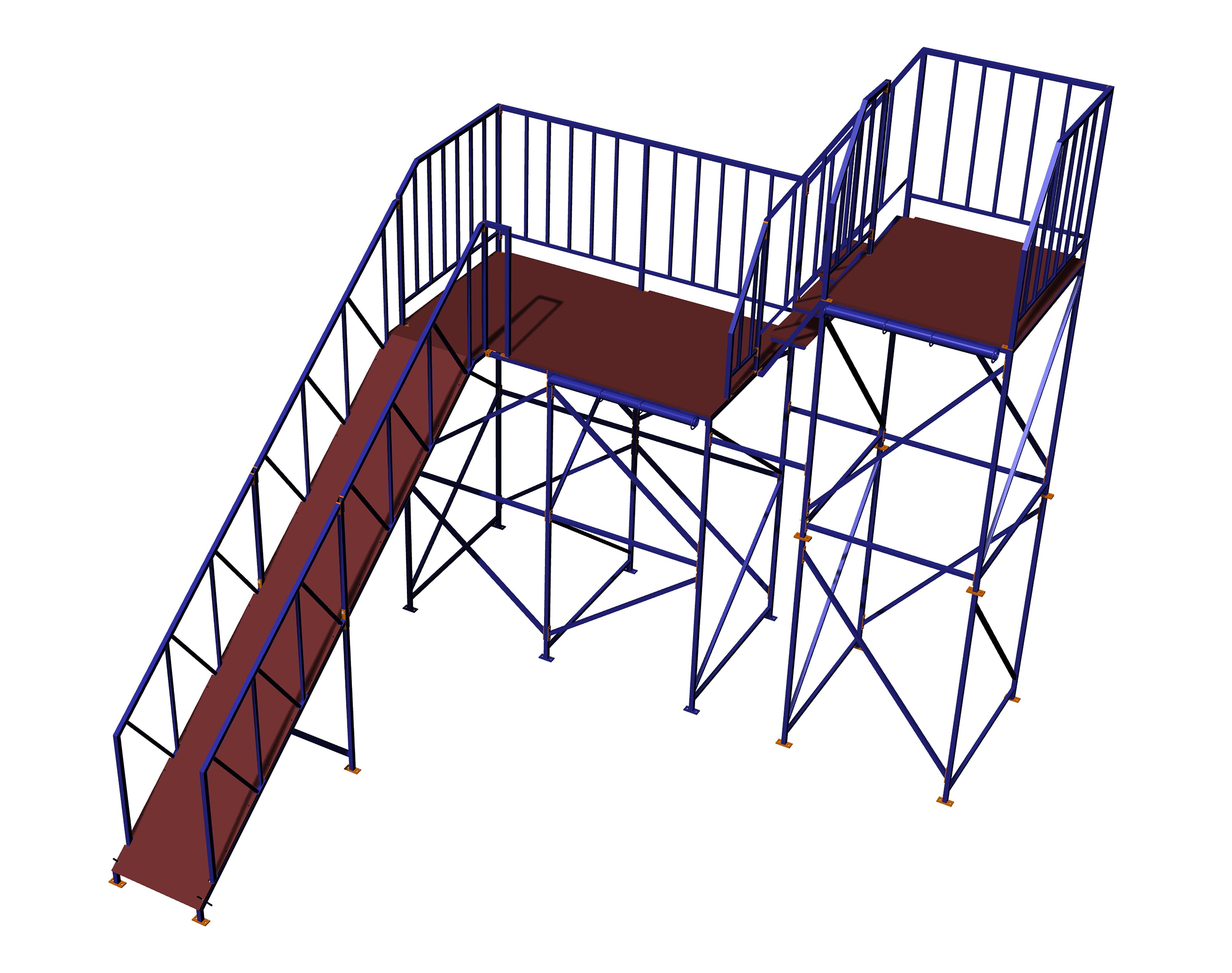 Стальная металлическая вышка для многогорочных аквапарков