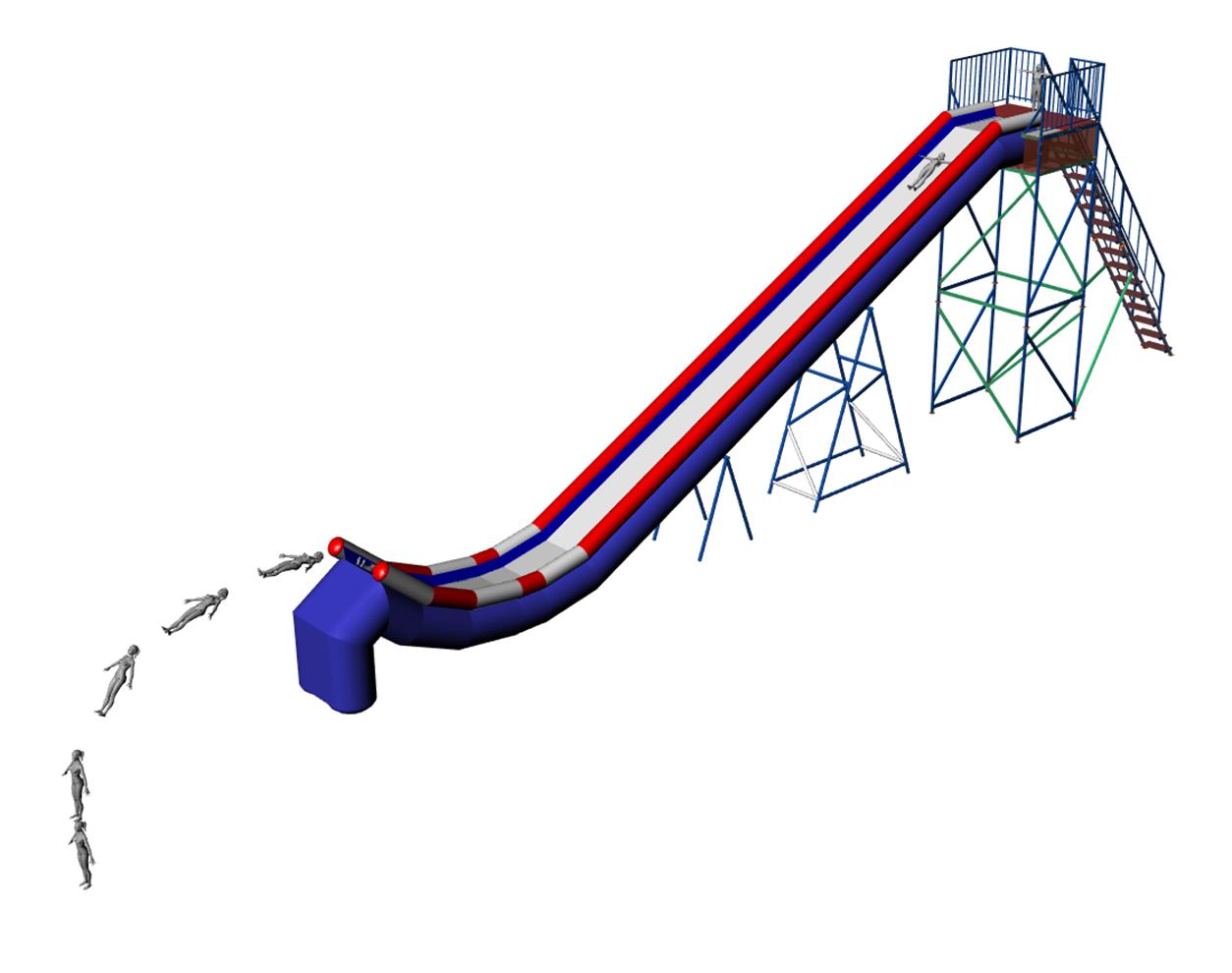 Inflatable water slide JUMP SPORT