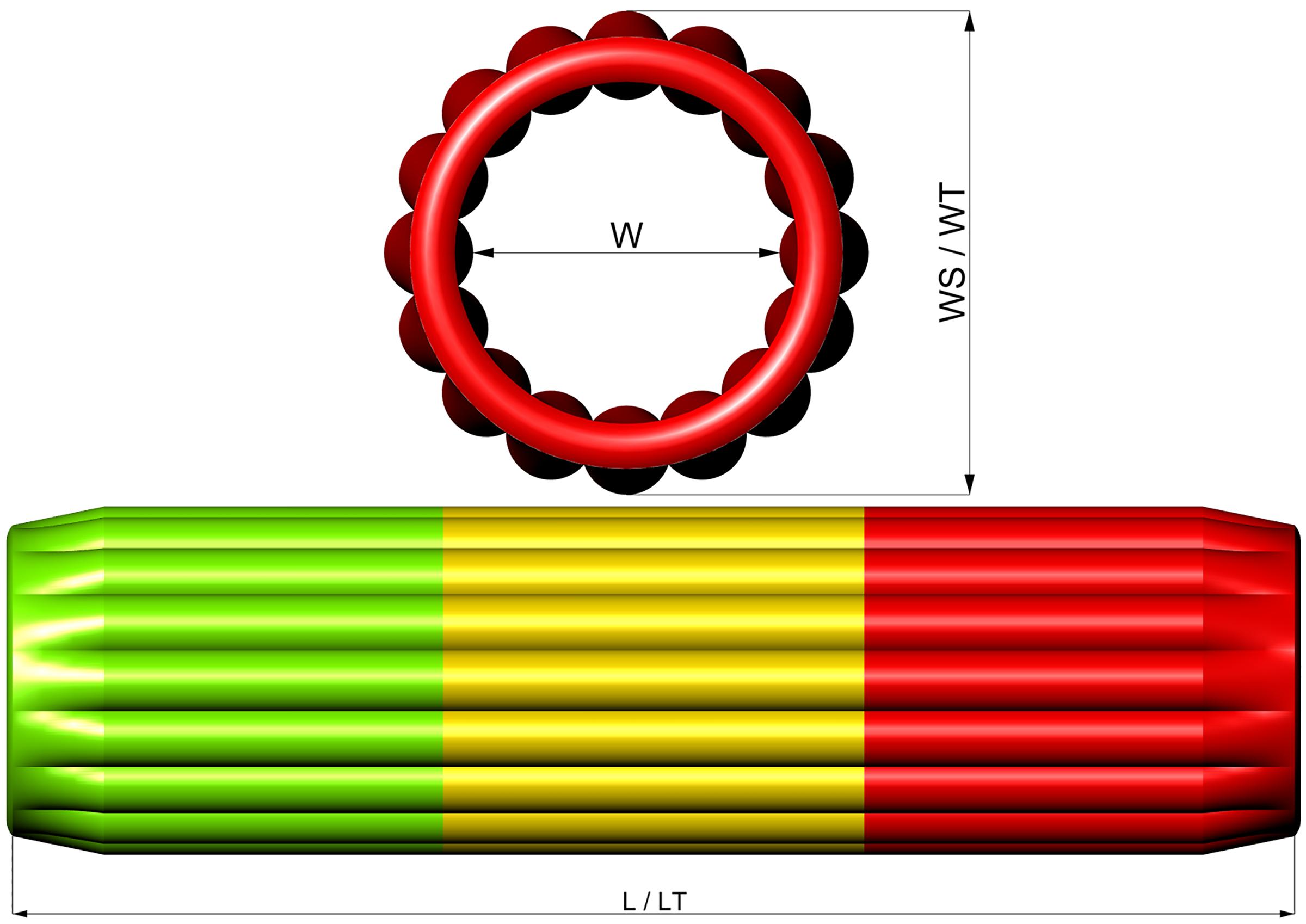 Размеры надувной водной горки AKVEDUK